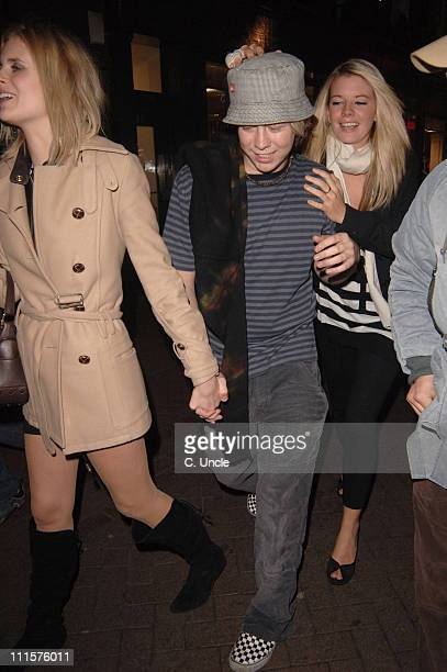 James Bourne and guests during Princess Diamond Party November 23 2005 at Umbaba in London Great Britain