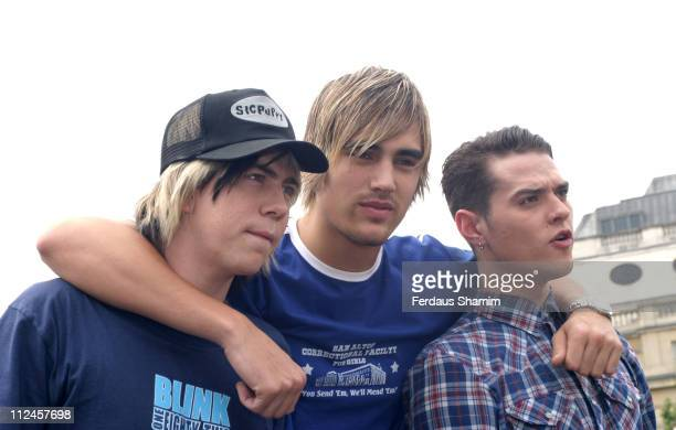 James Bourne Charlie Simpson and Matt Jay of Busted