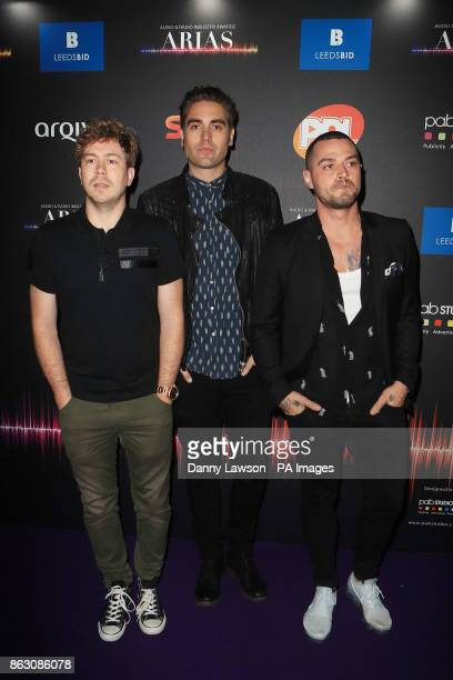 James Bourne Charlie Simpson and Matt Willis of the band Busted attending the Audio and Radio Industry Awards at the First Direct Arena in Leeds