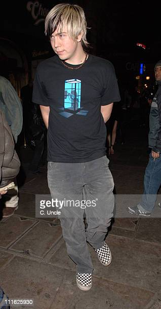 James Bourne during James Bourne Sighting at Cafe Royal in London February 8 2006 at Cafe Royal in London Great Britain