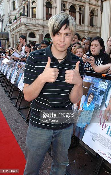 James Bourne during 'Just My Luck' London Charity Premiere Inside Arrivals at Vue West End in London Great Britain