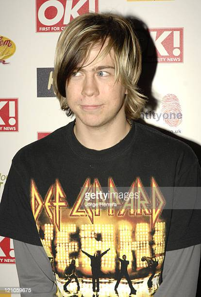 James Bourne during Ok Christmas Party Outside Arrivals in London Great Britain