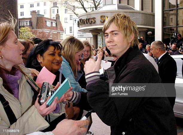 James Bourne of Busted during 2004 Capital FM Awards Arrivals at Royal Lancaster Hotel in London Great Britain