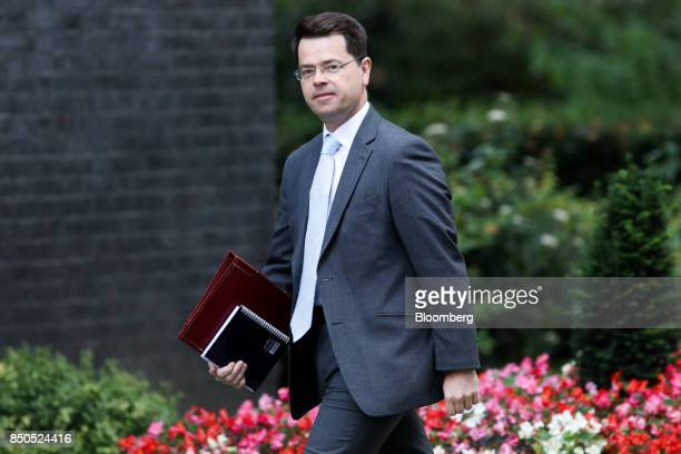 James Brokenshire UK Northern Ireland secretary arrives for a special cabinet meeting at number 10 Downing Street in London UK on Thursday Sept 21...