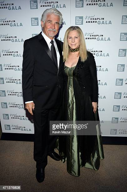 James Brolin and Barbara Streisand attend the 42nd Chaplin Award Gala at Alice Tully Hall Lincoln Center on April 27 2015 in New York City