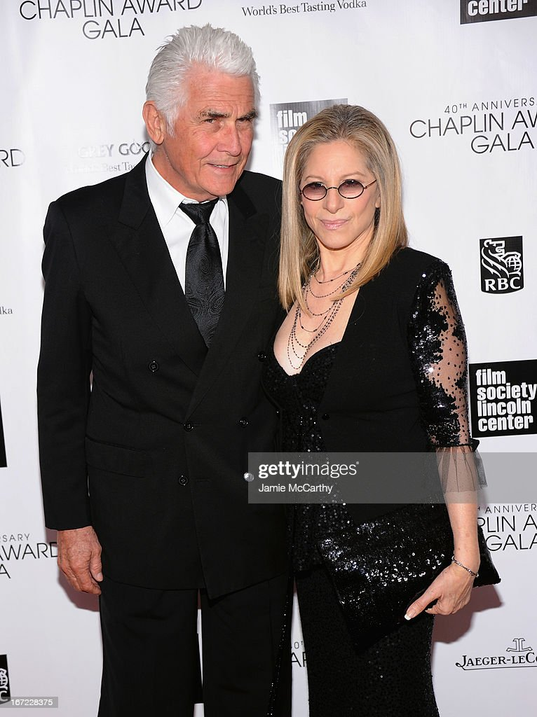 <a gi-track='captionPersonalityLinkClicked' href=/galleries/search?phrase=James+Brolin&family=editorial&specificpeople=213029 ng-click='$event.stopPropagation()'>James Brolin</a> (L) and <a gi-track='captionPersonalityLinkClicked' href=/galleries/search?phrase=Barbra+Streisand&family=editorial&specificpeople=200745 ng-click='$event.stopPropagation()'>Barbra Streisand</a> attend the 40th Anniversary Chaplin Award Gala at Avery Fisher Hall at Lincoln Center for the Performing Arts on April 22, 2013 in New York City.