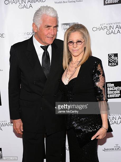 James Brolin and Barbra Streisand attend the 40th Anniversary Chaplin Award Gala at Avery Fisher Hall at Lincoln Center for the Performing Arts on...