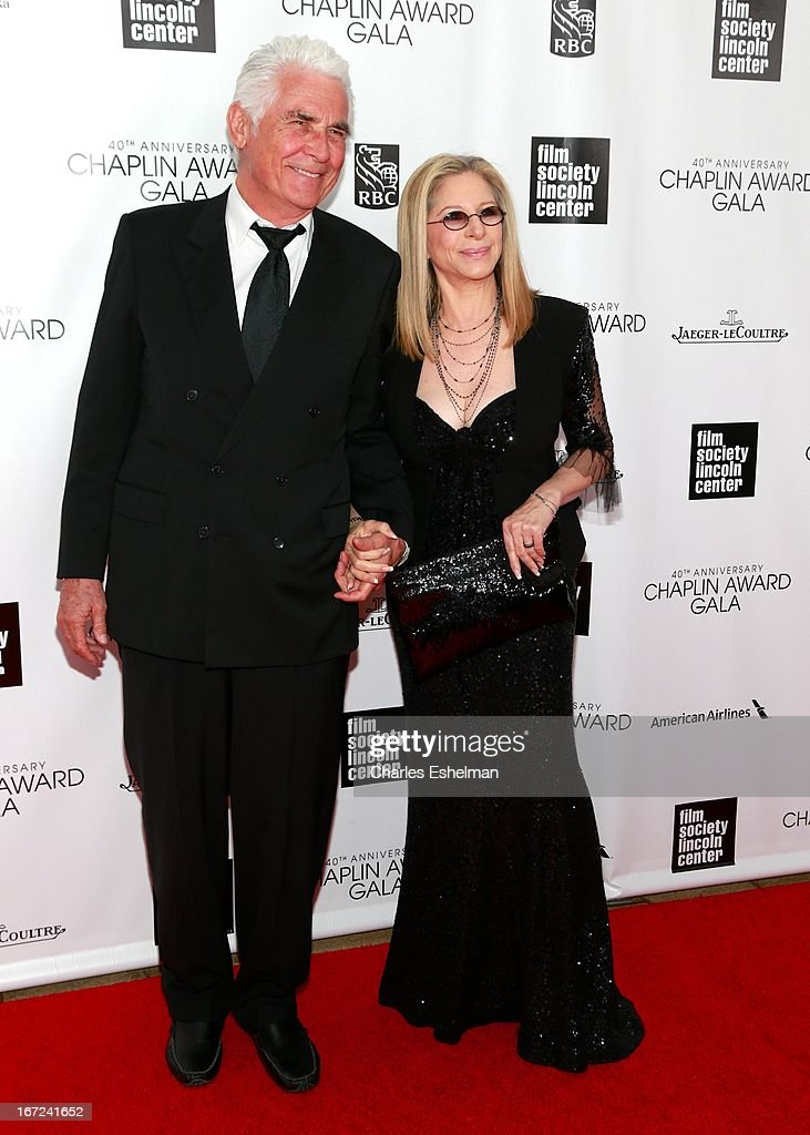 James Brolin and honoree Barbra Streisand attend the 40th Anniversary Chaplin Award Gala at Avery Fisher Hall at Lincoln Center for the Performing Arts on April 22, 2013 in New York City.