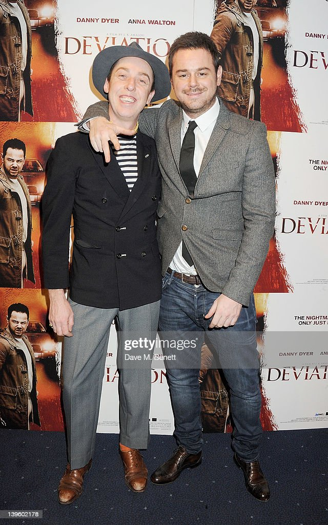 James Brown (L) and Danny Dyer attend the World Premiere of 'Deviation' at Odeon Covent Garden on February 23, 2012 in London, England.
