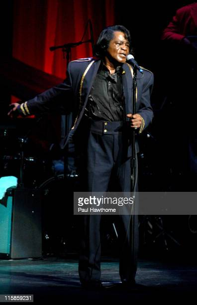 James Brown during James Brown Performs at the Apollo Theatre at Apollo Theatre in New York City New York United States