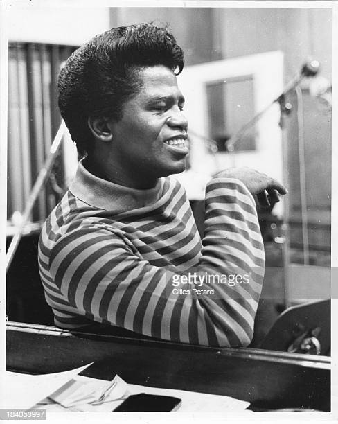 James Brown in the studio at the 'It's a Man's Man's Man's World' recording session portrait USA 1966