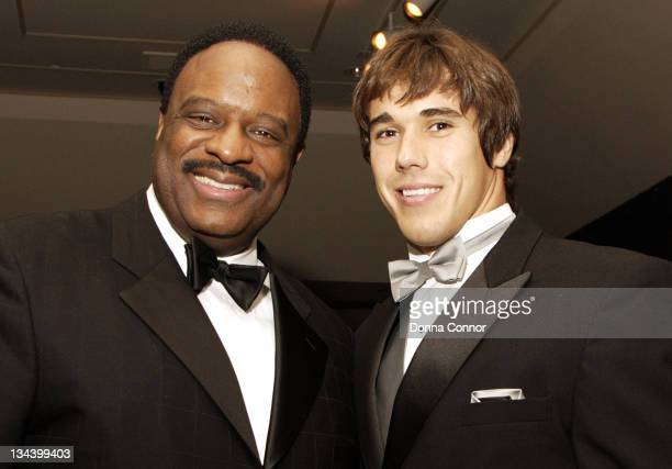 James Brown of CBS Sports and Brady Quinn University of Notre Dame quarterback