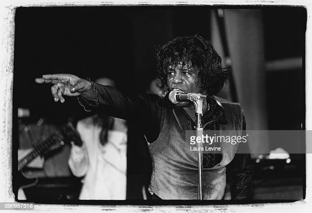 James Brown on stage at Irving Plaza in New York