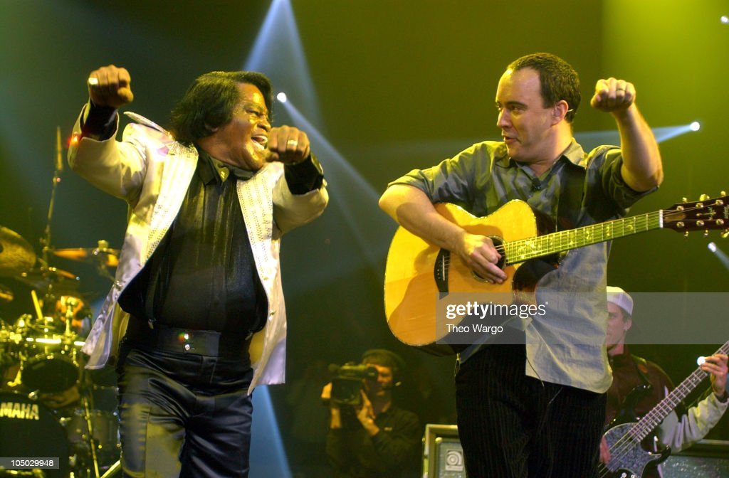 James Brown Performs with the Dave Matthews Band at Madison Square Garden