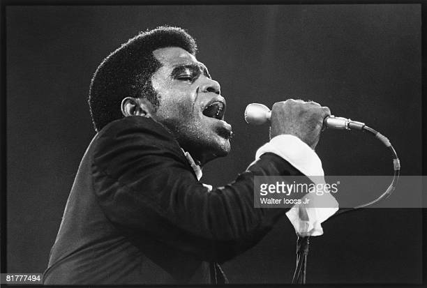 James Brown performs at Madison Square Garden circa 1960's in New York City New York