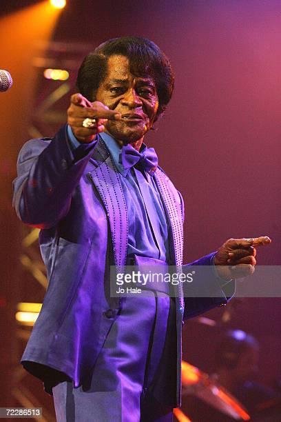 James Brown performs at the Roundhouse as part of the BBC Electric Proms on October 27 2006 in London England