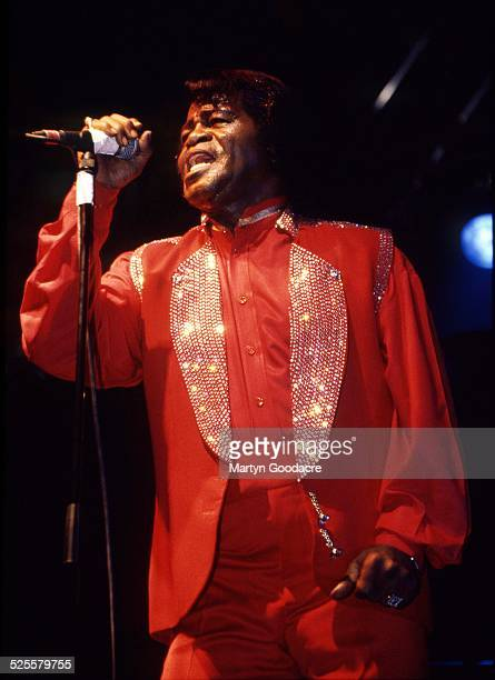 James Brown performs on stage at Essential Festival Brighton United Kingdom 2000