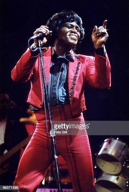James Brown performs on stage at Wembley Arena on April 18th 1986 in London United Kingdom
