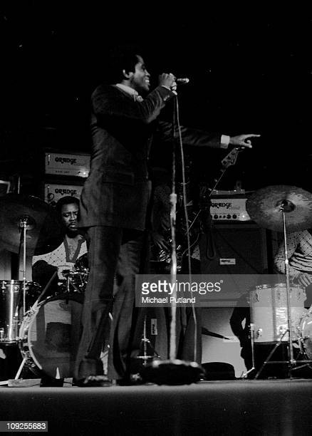 James Brown performs on stage in London 11th March 1971
