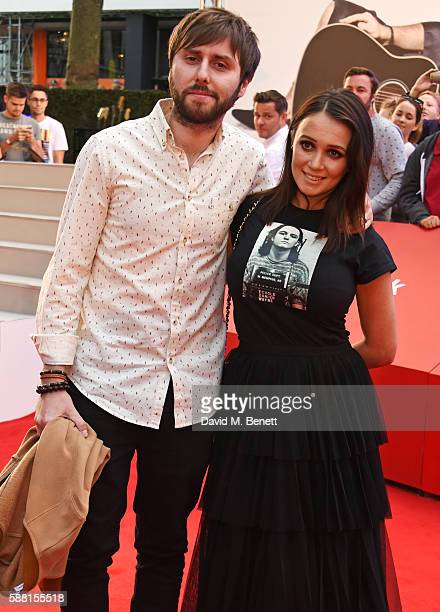 James Buckley and Clair Meek attend the World Premiere 'David Brent Life On The Road' at Odeon Leicester Square on August 10 2016 in London England
