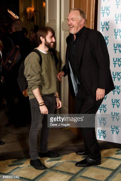 James Buckley and Greg Davies attend the UKTV Live 2017 photocall at Claridges Hotel on September 13 2017 in London England Broadcaster announces...
