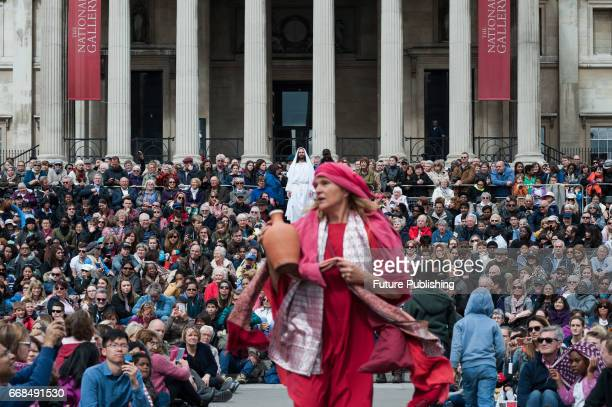 James BurkeDunsmore as Jesus risen from the dead during the annual play of The Passion of Jesus by Wintershall on The occasion of Good Friday on...