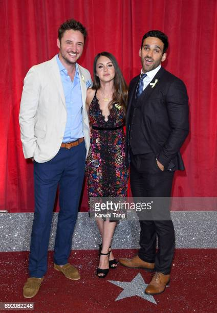 James Bye Lacey Turner and Davood Ghadami attend the British Soap Awards at The Lowry Theatre on June 3 2017 in Manchester England