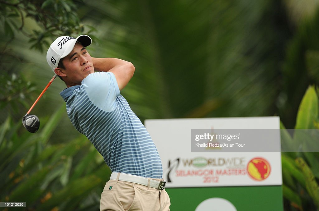 James Byrne of Scotland hits from a tee during previews ahead of the Worldwide Holdings Selangor Masters at Kota Permai Golf and Country Club on September 4, 2012 in Shah Alam, Selangor, Malaysia.