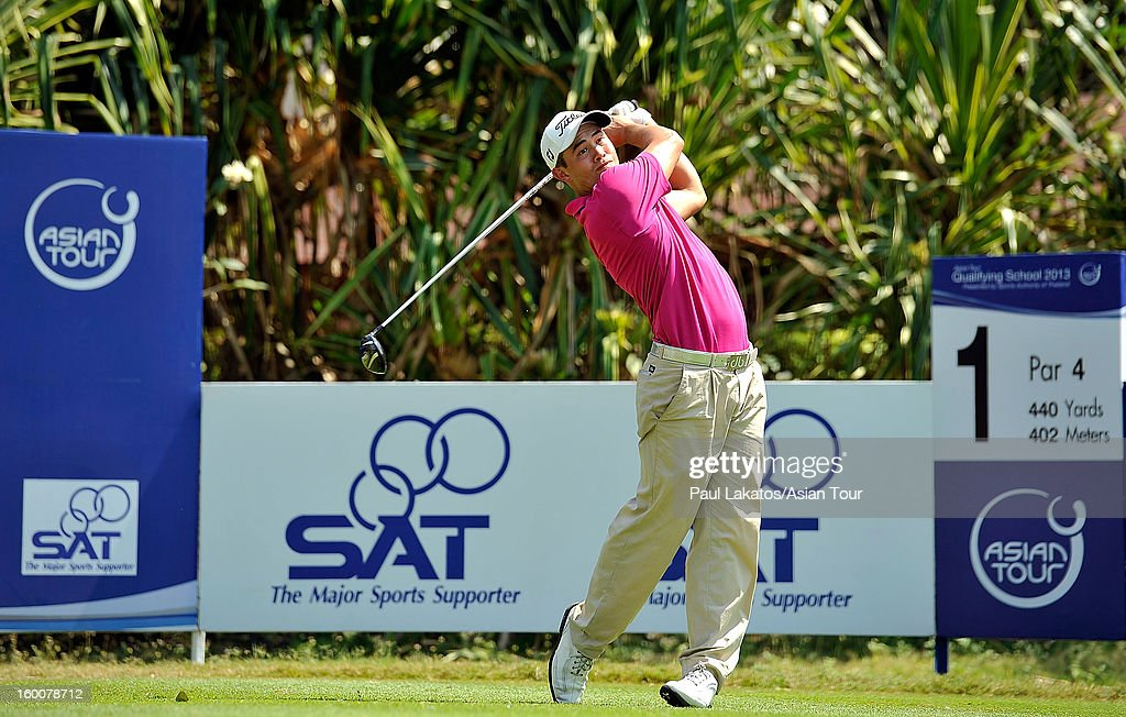 James Byrne of Scotland plays a shot during round four of the Asian Tour Qualifying School Final Stage at Springfield Royal Country Club on January 26, 2013 in Hua Hin, Thailand.