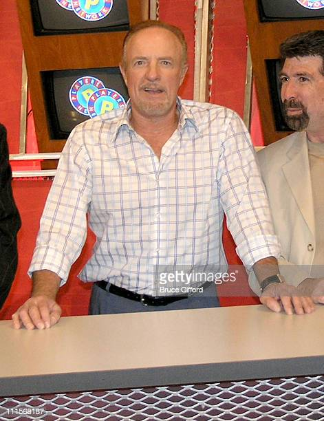 James Caan and Michael Berk during Players Network Launch at the 2005 World Series of Poker Lifestyle Show at The Rio in Las Vegas Nevada United...