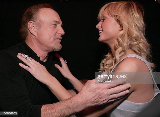 James Caan and Paris Hilton during EA Paramount Pictures Host 'The Godfather The Game' Launch Party Inside at Privilege in West Hollywood California...