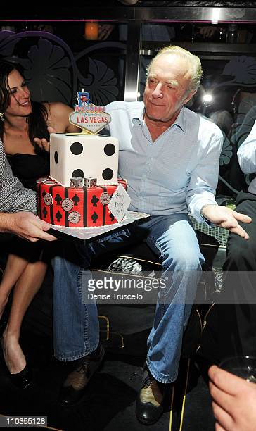 James Caan celebrates his birthday at The Bank Nightclub at Bellagio Las Vegas on March 26 2010 in Las Vegas Nevada