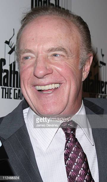James Caan during EA Games Launches ''The Godfather'' the Game at Il Cortile in New York City New York United States