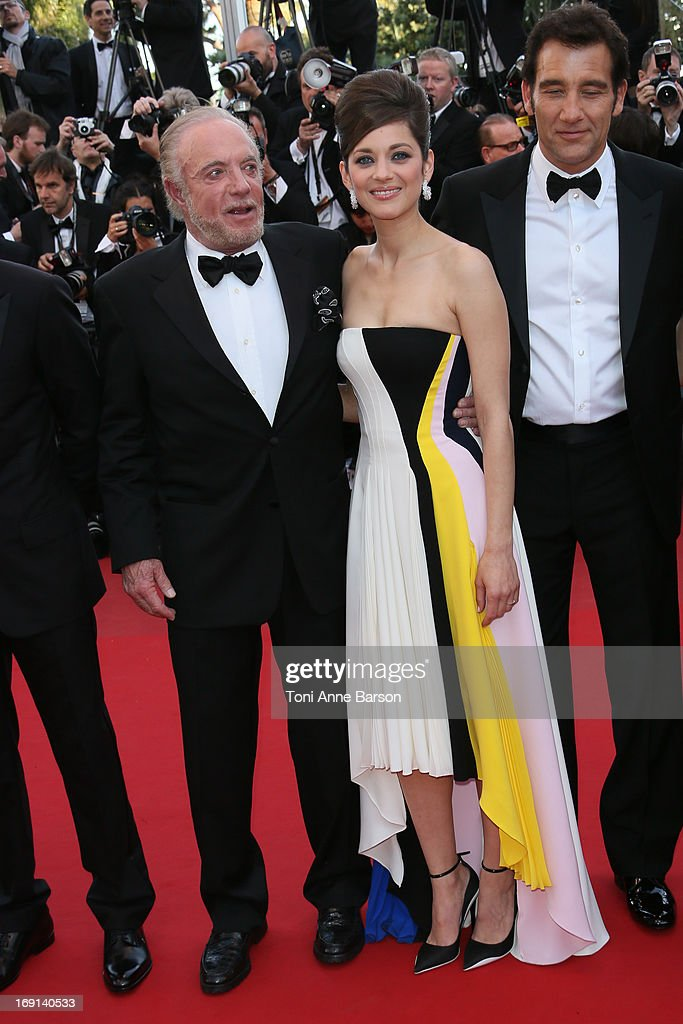 James Caan, Marion Cotillard and Clive Owen attend the Premiere of 'Blood Ties' during the 66th Annual Cannes Film Festival at the Palais des Festivals on May 20, 2013 in Cannes, France.