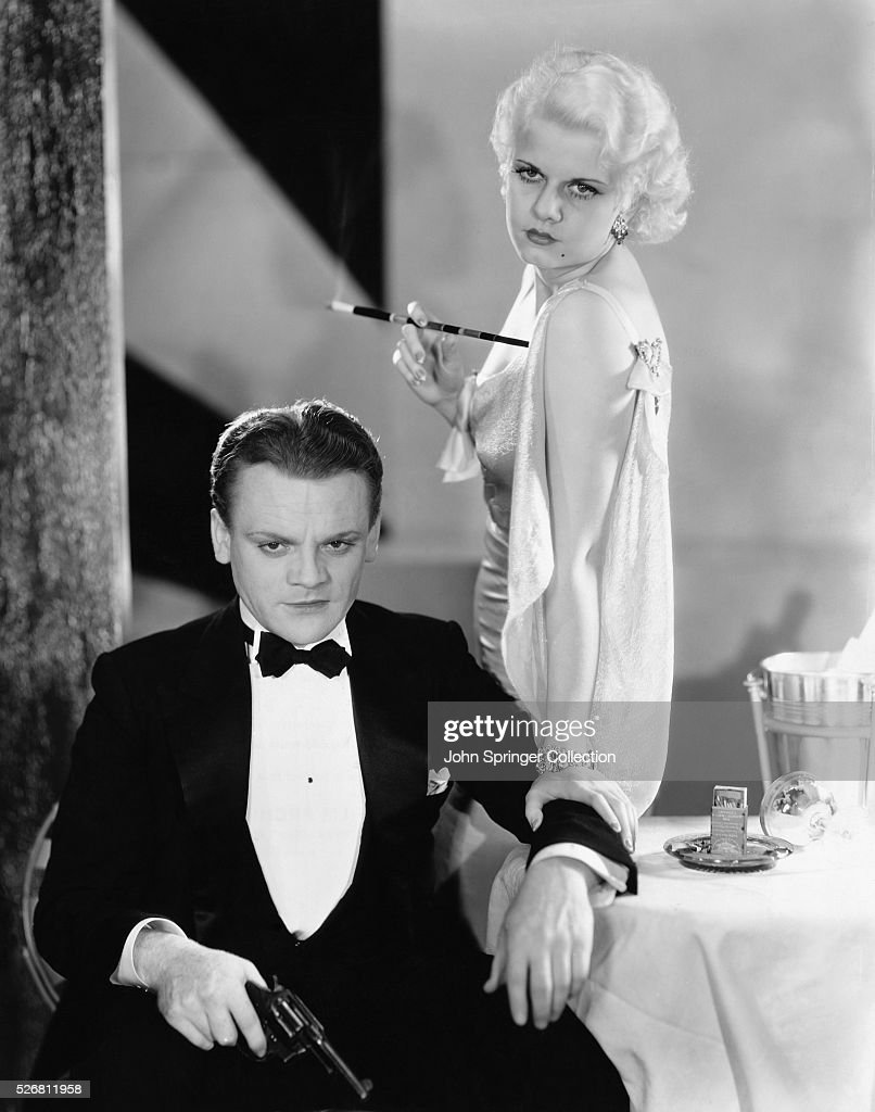 James Cagney stars as Tom Powers in 1931 film The Public Enemy with Jean Harlow as Gwen Allen