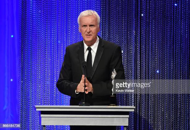 James Cameron accepts the Prince Rainier III Award onstage during the 2017 Princess Grace Awards Gala at The Beverly Hilton Hotel on October 25 2017...
