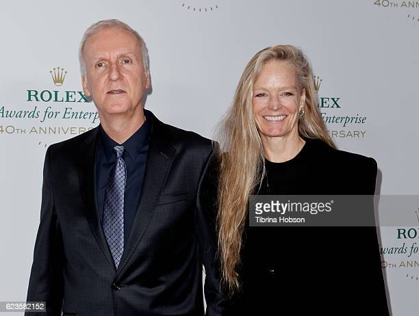 James Cameron and Suzy Amis Cameron attend the 40th Anniversary of Rolex Awards for Enterprise at Dolby Theatre on November 15 2016 in Hollywood...