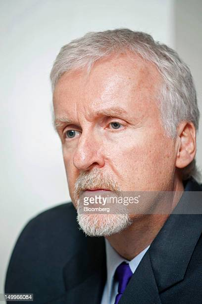 James Cameron film director and cochairman of Cameron Pace Group attends an interview in Beijing China on Wednesday Aug 8 2012 Cameron Pace Group...