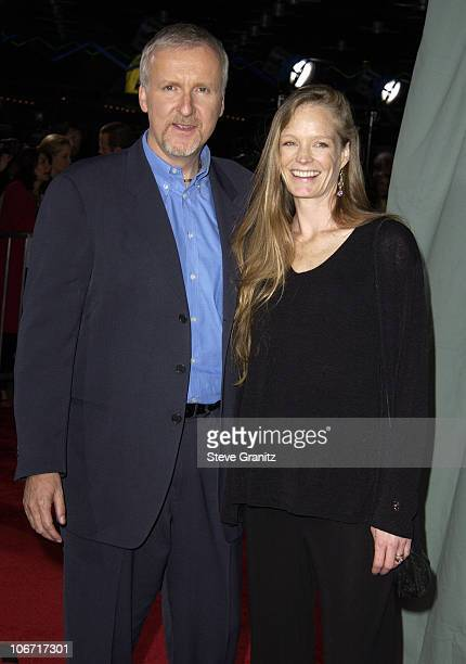 James Cameron Suzy Amis during 'Ghosts Of The Abyss' Premiere at Universal City Walk IMAX in Universal City California United States