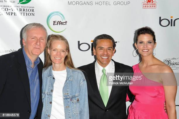 James Cameron Suzy Cameron Antonio Villaraigosa and Lu Parker attend James Cameron and AVATAR Cast Celebrate Earth Day in Los Angeles at JW Marriot...