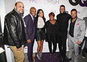 James Campbell Kenny Lattimore Sharon Carpenter Sherri Shepherd and Al Reynolds attend the GQ x Paul Drish Event at Paul Drish on October 21 2015 in...