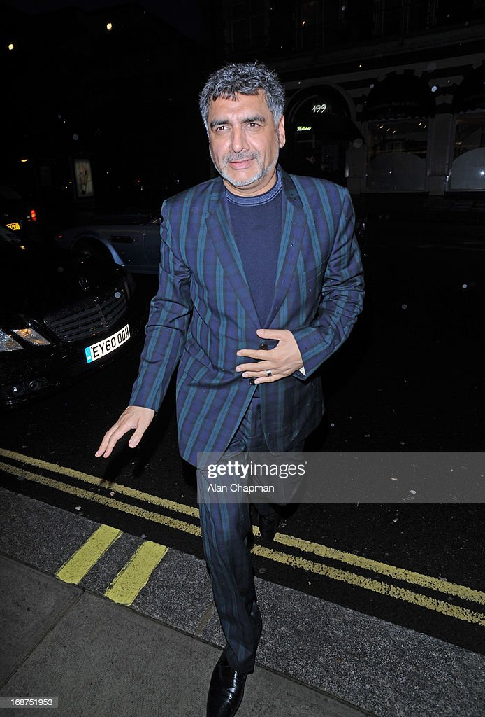 James Cann sighting arriving at the Bulgari Hotel for the Marie Curie charity auction on May 14, 2013 in London, England.