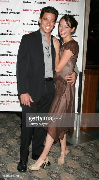 James Carpinello and Amy Acker during The 30th Annual Saturn Awards Arrivals at Sheraton Universal Hotel in Universal City California United States