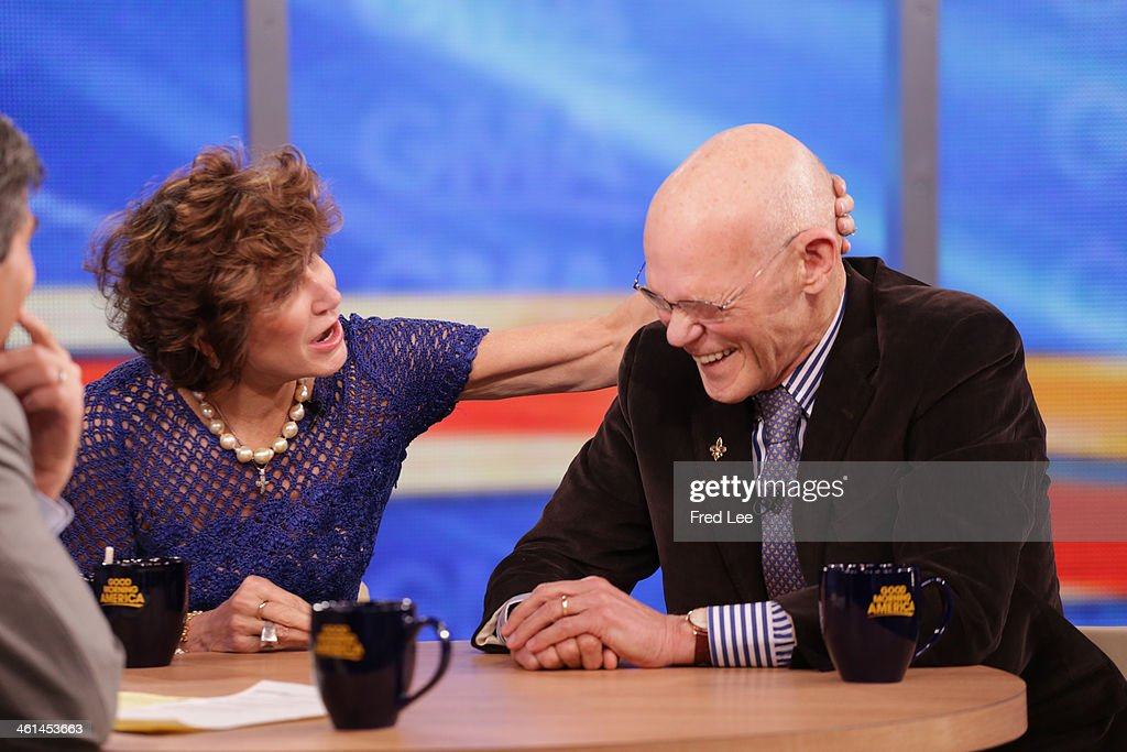 AMERICA - James Carville and Mary Matalin are guests on 'Good Morning America,' 1/7/14, airing on the ABC Television Network. (Photo by Fred Lee/ABC via Getty Images) GEORGE STEPHANOPOULOS, MARY MATALIN, JAMES CARVILLE