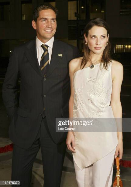 James Caviezel and Claire Forlani during 'Bobby Jones Stroke of Genius' Los Angeles Premiere Red Carpet at Samuel Goldwyn Theater in Beverly Hills...