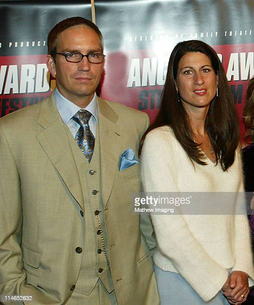 James Caviezel and wife Kerri Caviezel Taken at the 8th Annual Angelus Awards Student Film Festival on October 25 2003 Caviezel portrays Jesus Christ...