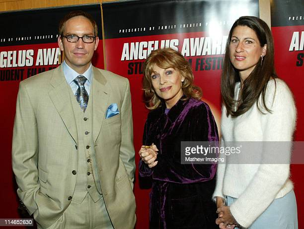 James Caviezel Mrs Veronique Peck Gregory Peck's widow and wife Kerri Caviezel at the 8th Annual Angelus Awards Student Film Festival on October 25...
