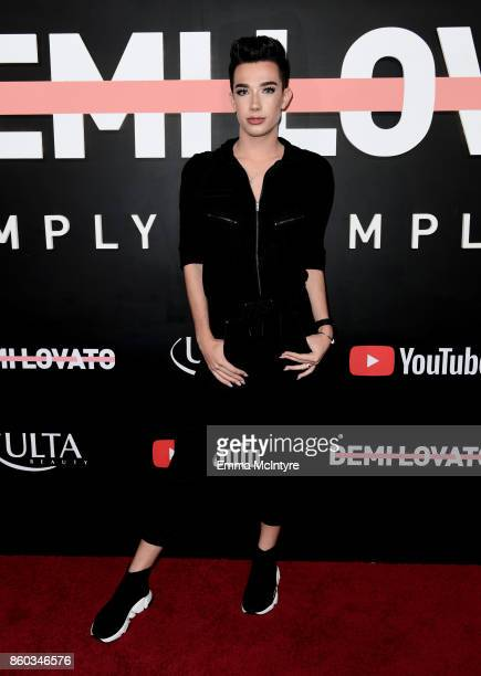 James Charles attends the 'Demi Lovato Simply Complicated' YouTube premiere at The Fonda Theatre on October 11 2017 in Los Angeles California