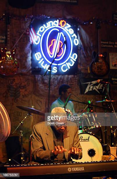 James 'Chicken' Dooris performs with Unseen Eye at Ground Zero Blues Club April 13 2013 in Clarksdale Mississippi Dozens of blues artists performed...