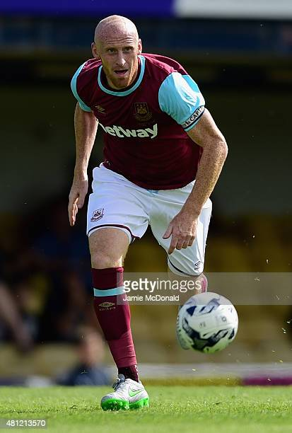 James Collins of West Ham United in action during the pre season friendly match between Southend United and West Ham United at Roots Hall on July 18...